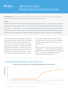 Behind the Buzz: People-Based Marketing Defined
