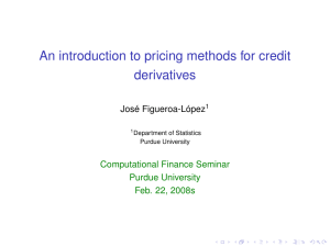 An introduction to pricing methods for credit derivatives