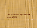 The Protestant Reformation (1450-1565) - mr