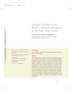 Irregular Satellites of the Planets: Products of Capture in the Early