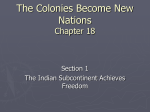 The Colonies Become New Nations Chapter 18