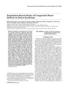 Population-based study of congenital heart defects in Down syndrome