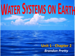 Water Systems on Earth