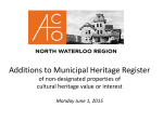 Municipal Heritage Register