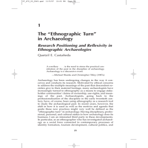 "1 The ""Ethnographic Turn"" in Archaeology"