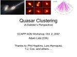 QSO clustering overview