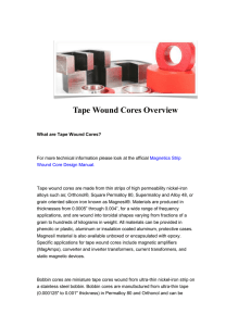 Tape Wound Cores Overview
