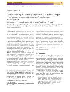 Understanding the sensory experiences of young people with