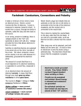 Factsheet: Conductors, Connections and Polarity
