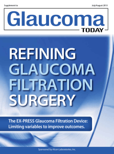 The EX-PRESS Glaucoma Filtration Device