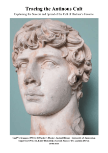 Tracing the Antinous Cult - UvA-DARE