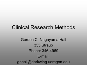 Clinical Research Methods