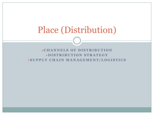 Place (distribution) Powerpoint