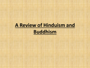 A Review of Hinduism and Buddhism