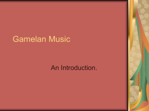 Gamelan - Musical Meanderings