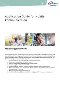 Application Guide for Mobile Communication