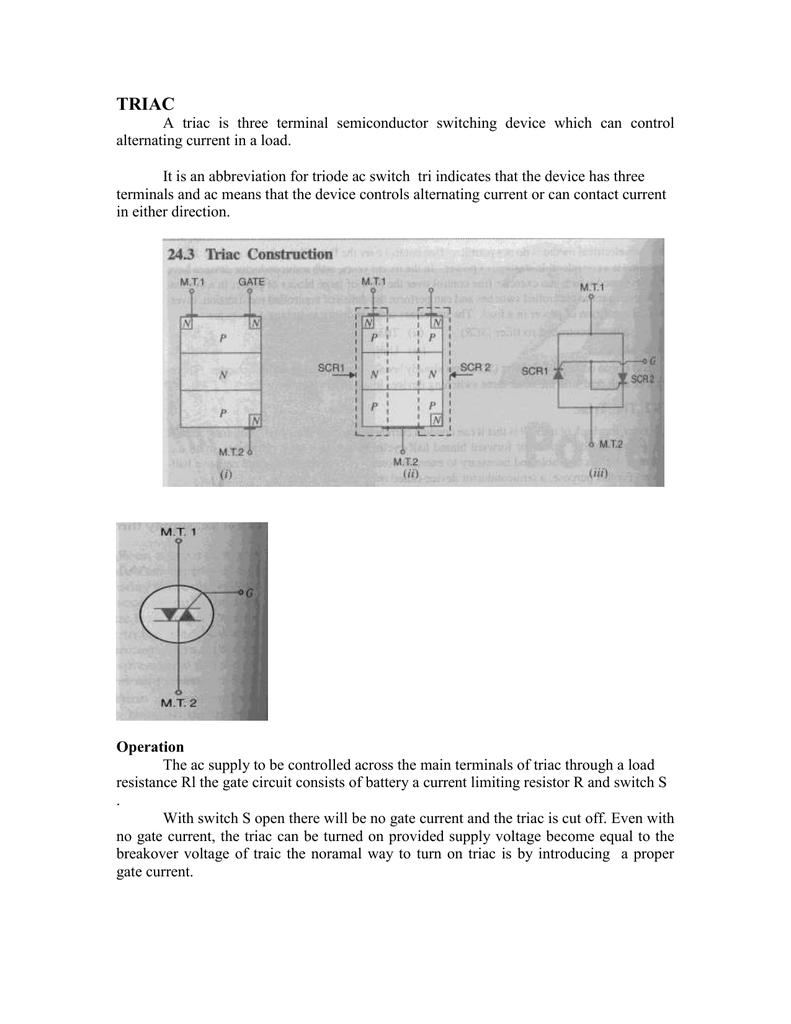 Gate Turn Off Thyristor Gto Scr Phase Control Speed Dimmer Schematic
