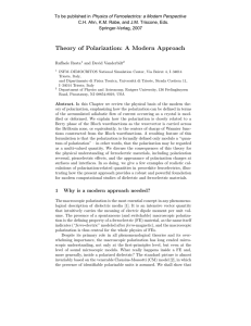 Theory of Polarization: A Modern Approach