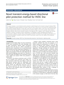 Novel transient-energy-based directional pilot protection method for