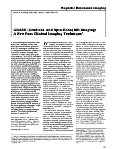 GRASE (Gradient- and spin-echo) MR imaging: A new fast clinical