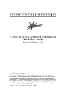 C IESM Workshop Monographs Towards an integrated system of