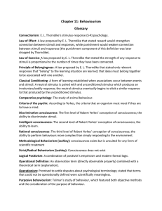 Glossary - Psychology
