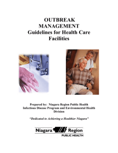 Outbreak Management Guidelines for Health Care Facilities