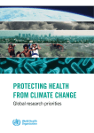 Protecting health from climate change: global research priorities
