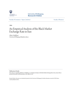 An Empirical Analysis of the Black Market Exchange Rate in Iran