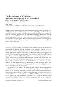 The Inventiveness of a Tradition: Structural Anthropology in the