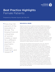 Best Practice Highlights Female Patients