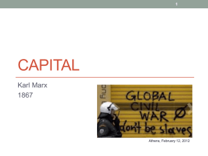 Capital - SOC 331: Foundations of Sociological Theory