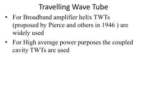 Travelling Wave Tube