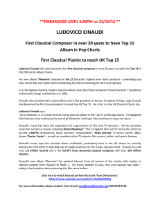 Einaudi Top 15 UK Chart History 33.5 kB ()