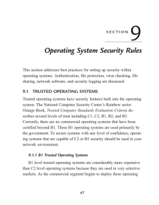 Operating System Security Rules