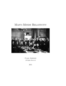 Many-Minds Relativity and Quantum Mechanics