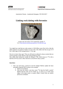 Linking rock dating with forensics