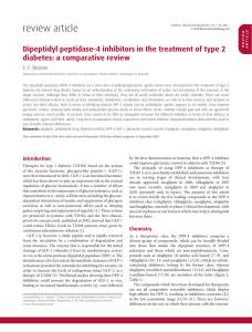 Dipeptidyl peptidase4 inhibitors in the treatment of type 2