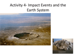Activity 4- Impact Events and the Earth System