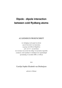 Dipole-dipole interactions between Rydberg atoms