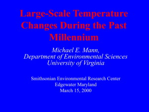 Climate During the Past Millennium