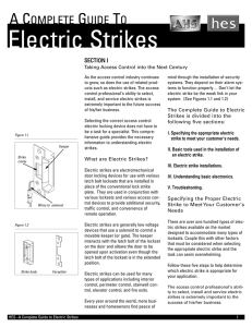 Guide To Electric Strikes