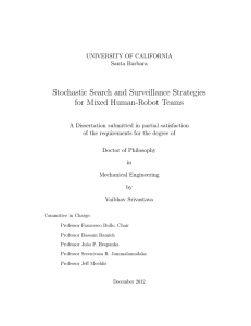 Stochastic Search and Surveillance Strategies for