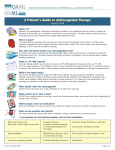 A Patient`s Guide to Anticoagulant Therapy
