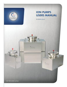 ION PUMPS USERS MANUAL