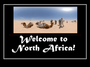 Welcome to North Africa!