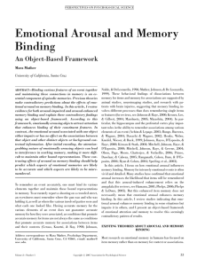 Emotional Arousal and Memory Binding