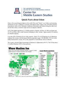 Quick Facts about Islam - The Center for Middle Eastern Studies