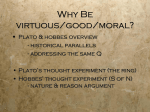 Plato and Hobbes Lecture