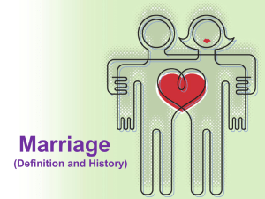 Marriage (Definition and History)
